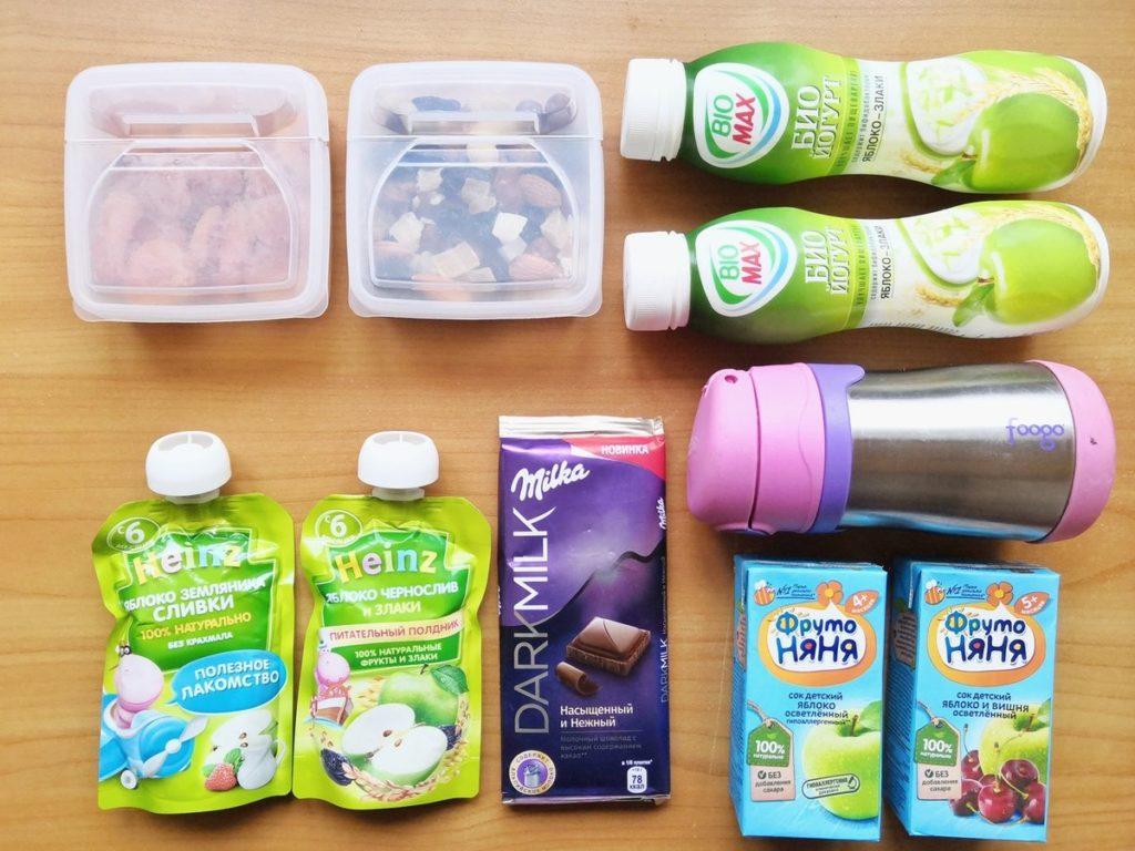 детское питание и термос в самолет